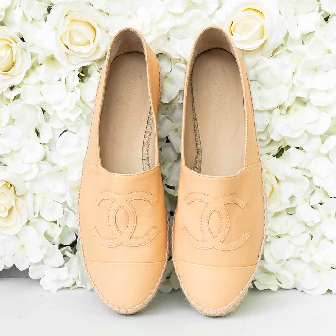 image of sustainable fashion chanel shoes