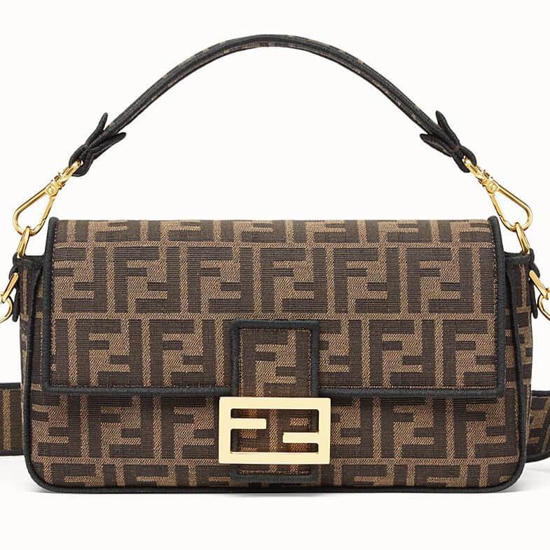 image of fendi baguette classic designer bag