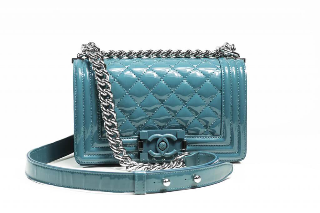 image of chanel classic flap designer handbag