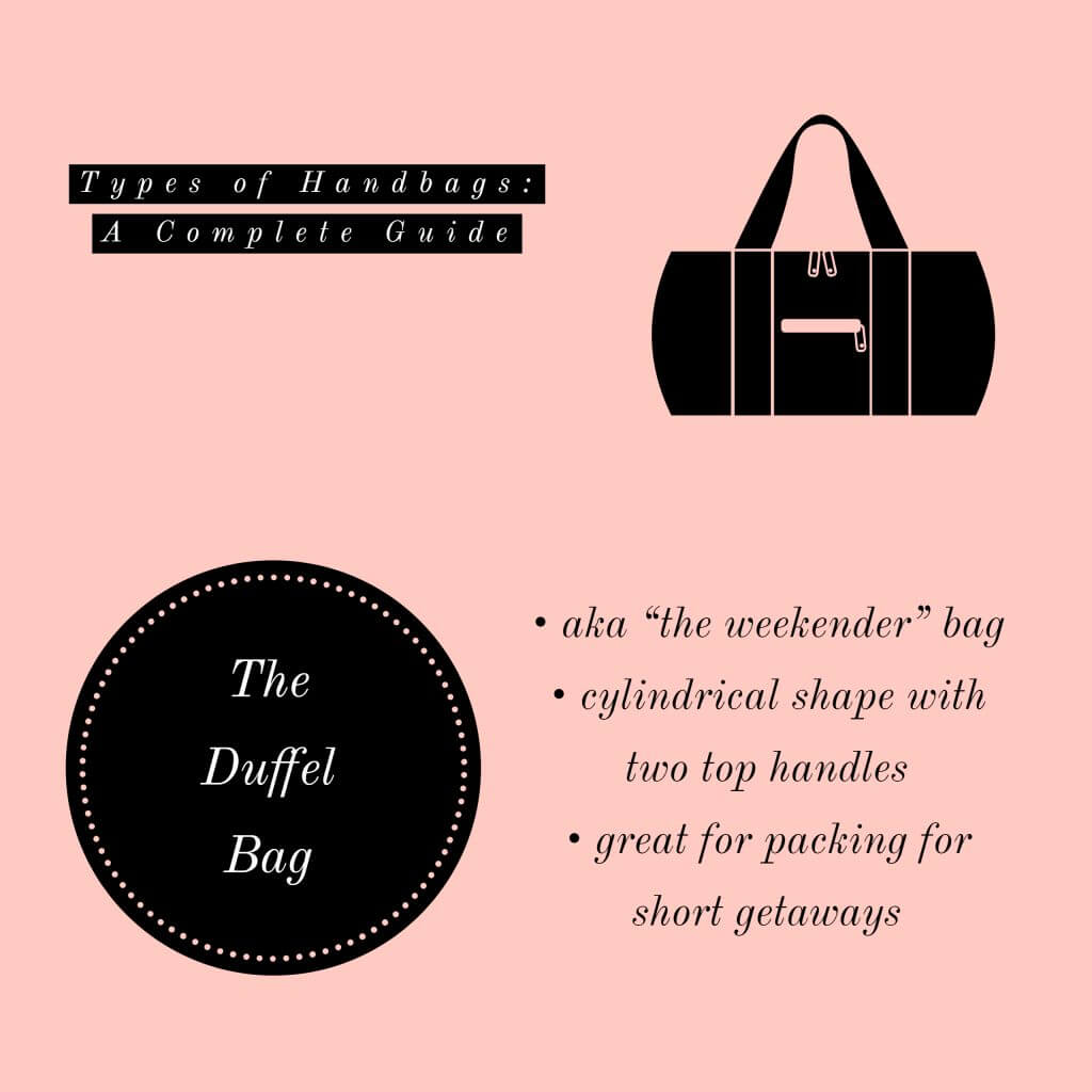 image of duffel bag types of handbags