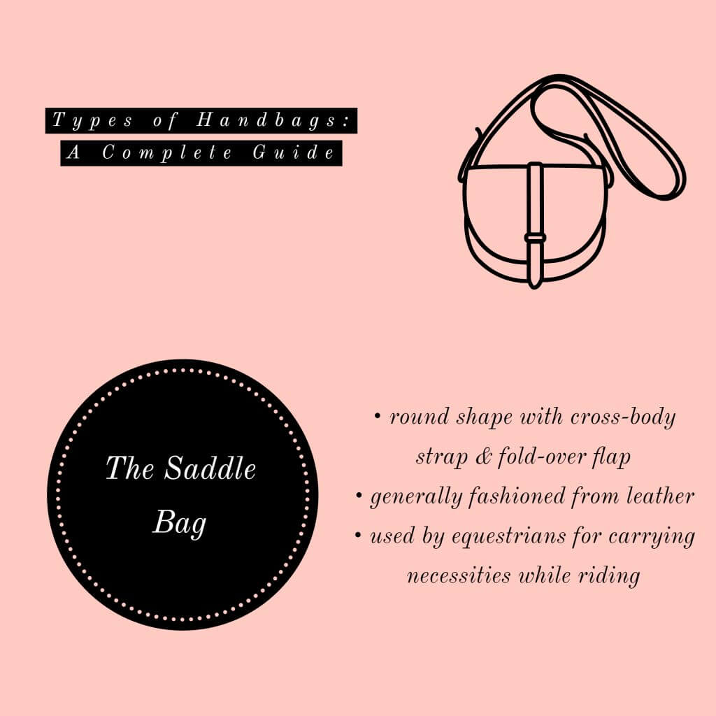 image of saddle bag types of handbags