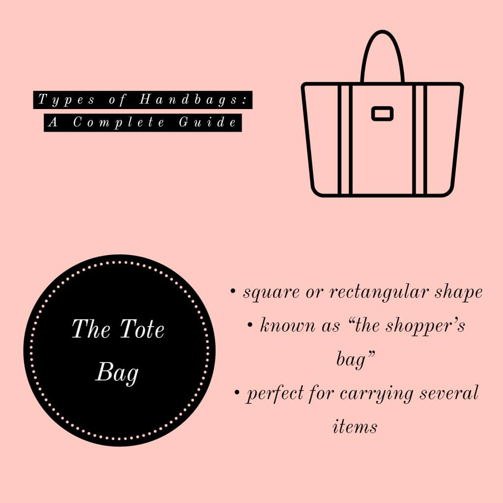 image of tote bag types of handbags