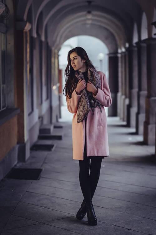 image of winter wardrobe wool coat