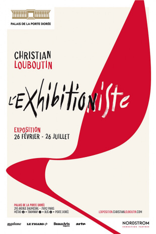 image of louboutin exhibit poster