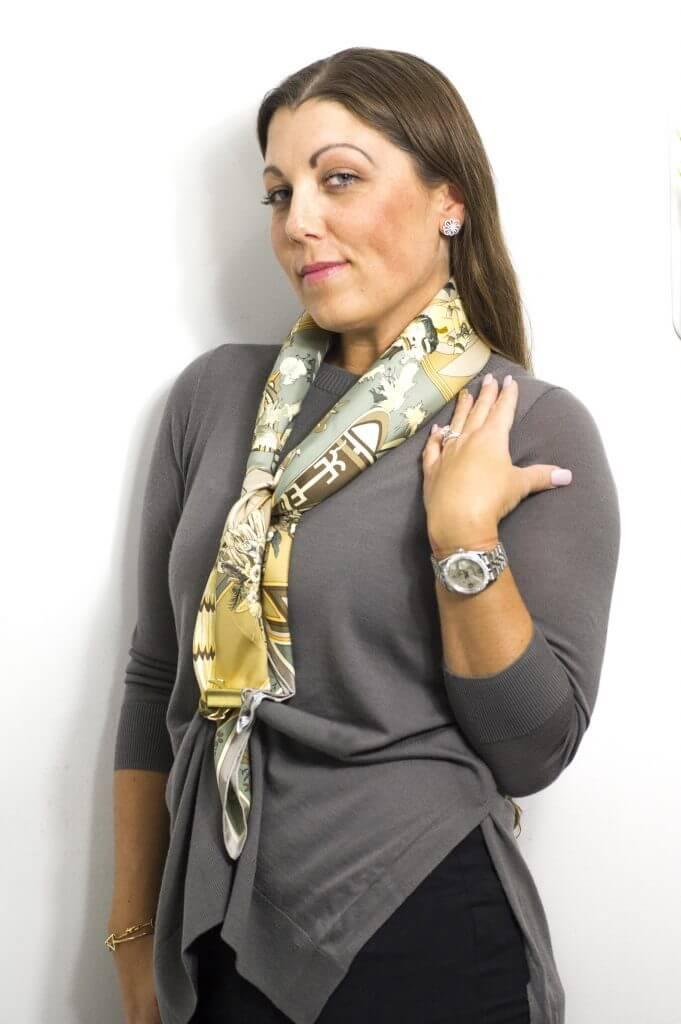 image of hermes silk scarf