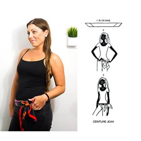 image of scarf worn as belt