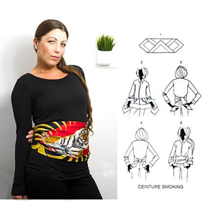 image of scarf around waist