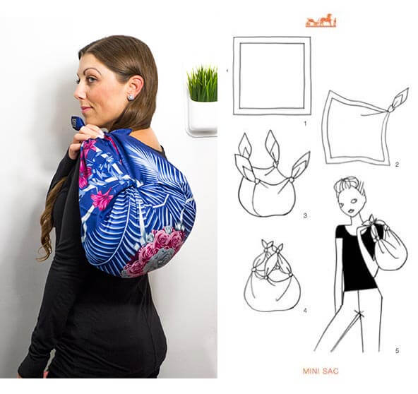 image of ways to wear a hermes scarf