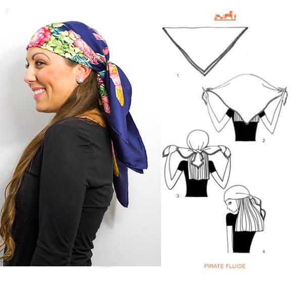 image of hermes head scarf